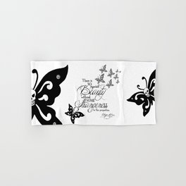 'Strange Skullerflies' -  Quotes - Edgar Allan Poe Hand & Bath Towel