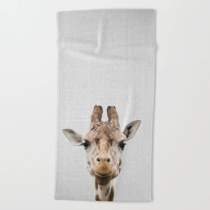 Giraffe - Colorful Beach Towel