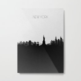 City Skylines: New York City (Alternative) Metal Print