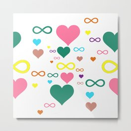 Infinity heart pattern Metal Print