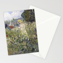 Miss Gachet in her garden at Auvers-sur-Oise Stationery Cards
