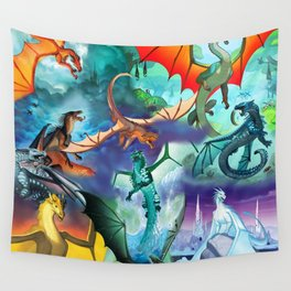 Wings of fire all dragon bg Wall Tapestry