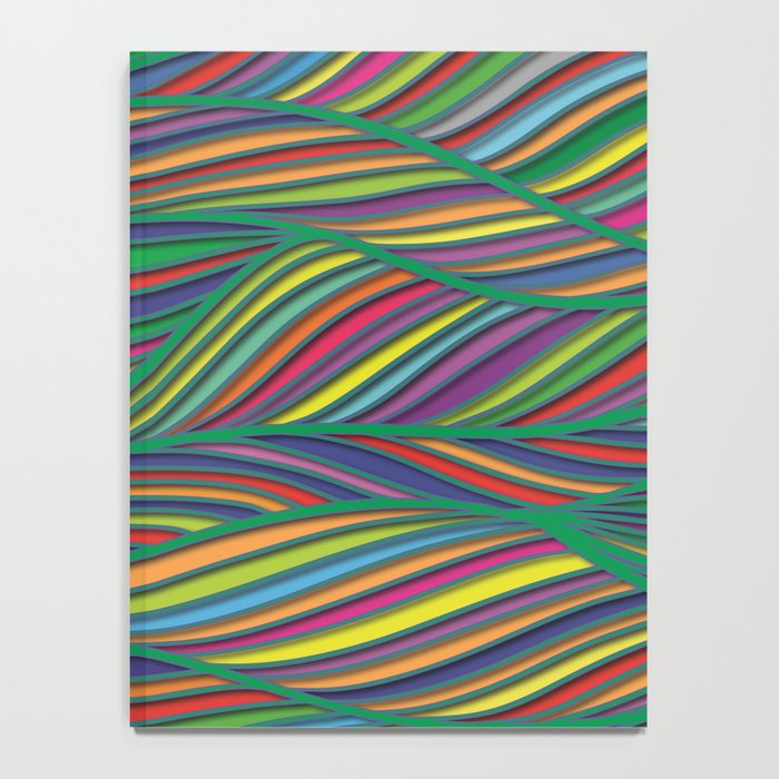 Flowing Lines Notebook