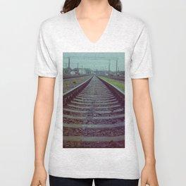 Railroad. Russia. Unisex V-Neck