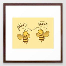 Boo Bees Framed Art Print