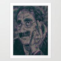Groucho Marx - Duck Soup Screenplay Print Art Print