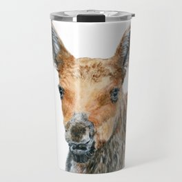 Little Moose by Teresa Thompson Travel Mug