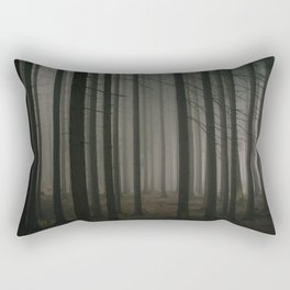 Dark morning forest Rectangular Pillow