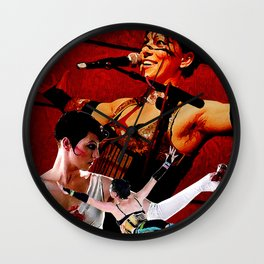 Do it With a Rockstar - Amanda Palmer Wall Clock