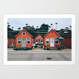 Beach Bungalows Art Print