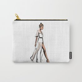 White dress Carry-All Pouch