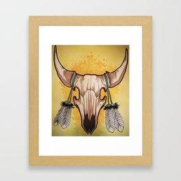 Buffalo skull Framed Art Print