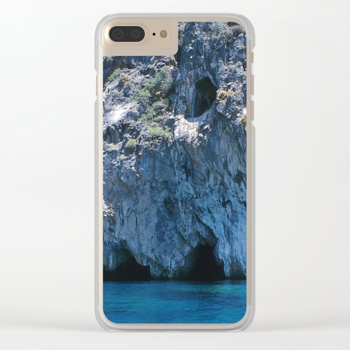 NATURE'S WONDER #4 - BLUE GROTTO #art #society6 Clear iPhone Case