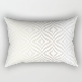 Silver Bargello Geometric Rectangular Pillow
