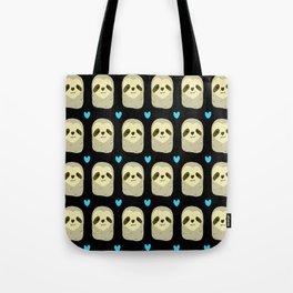 Blue Heart Sloth Tote Bag