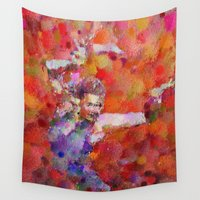 disco Wall Tapestries featuring Disco Girl by Georgiana Romanovna