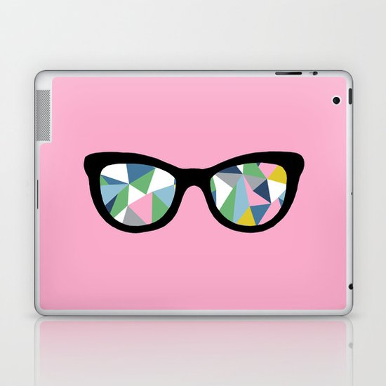 Abstract Eyes on Pink Laptop & iPad Skin