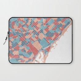 Colorful Barcelona map Laptop Sleeve