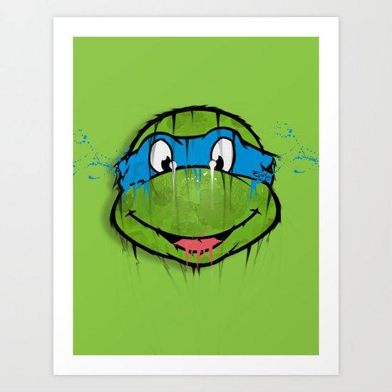 TURTLE POWER (NINJA TURTLE) Art Print