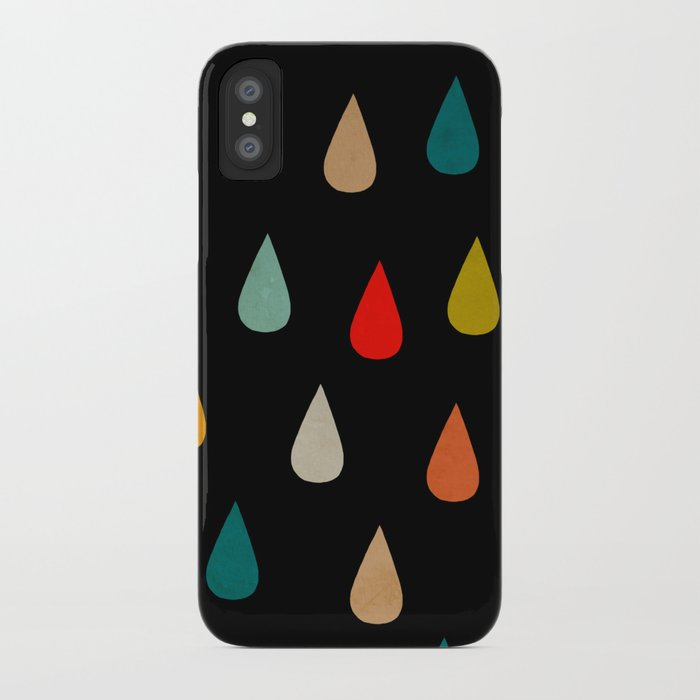 Colorful rain iPhone Case