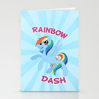 mlp Stationery Cards featuring MLP FiM: Rainbow Dash by Yiji