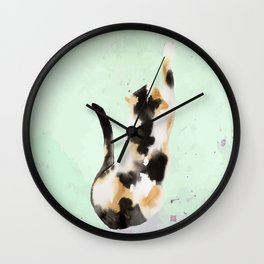 Calico kitten Wall Clock