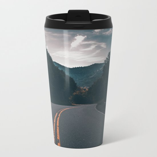 Road #Trees Metal Travel Mug