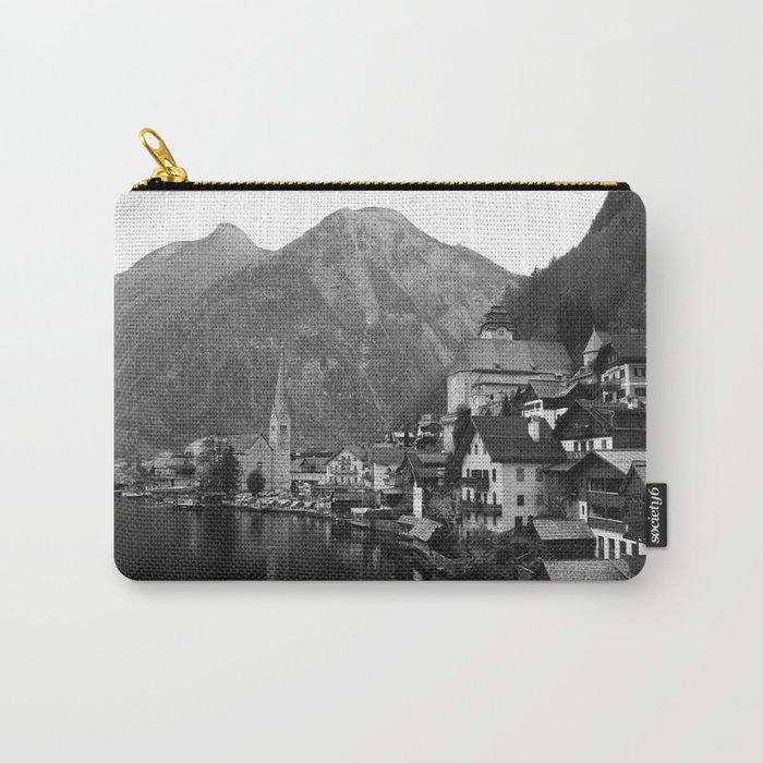 Black and White Hallstatt - Austria Carry-All Pouch