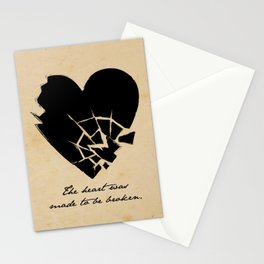 Oscar Wilde - The heart was made to be broken Stationery Cards