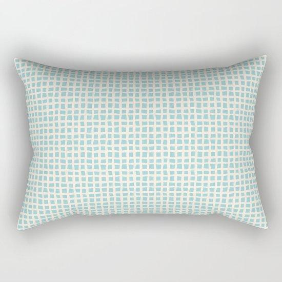 Blue Scribbles Pattern 02 Rectangular Pillow