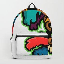 Zulu Warrior Head Mascot Backpack
