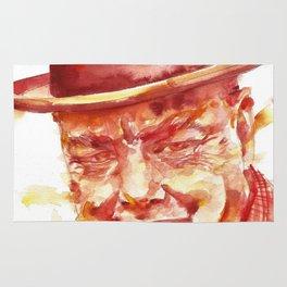 WINSTON CHURCHILL - watercolor portrait Rug