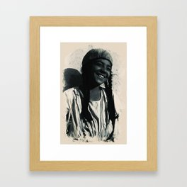 Young Faces from the past Series by Asar Studios, Kurdish boy with traditional plaited hair 2 Framed Art Print