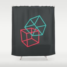 II: Hexaedro Shower Curtain