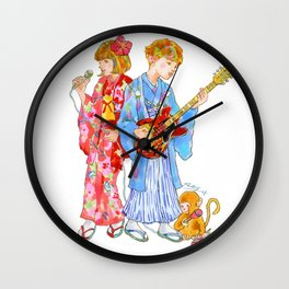 Kimono Kids Wall Clock