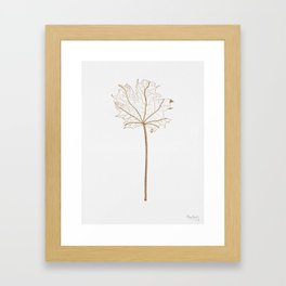 Golden leaf Framed Art Print