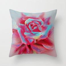 NEON ROSE Throw Pillow