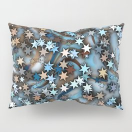 Blue Stars in Chocolate Ice Pillow Sham