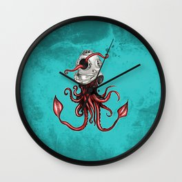 Squid with Diving Helmet Wall Clock