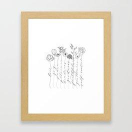 Fruit of the Spirit black/white Framed Art Print
