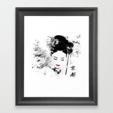 Kyoto Geisha Framed Art Print