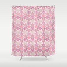 Pink Heart Valentine's Doilies Pattern Shower Curtain
