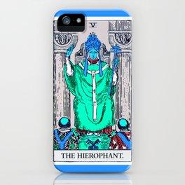 5. The Hierophant- Neon Dreams Tarot iPhone Case