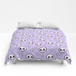 Cute Skulls // Purple Comforters