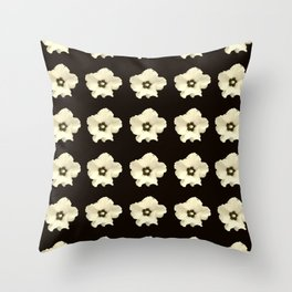 Sepia flower -bloom,blossom,petal,floral,leaves,flor,garden,nature,plant. Throw Pillow