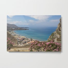 Cefalu view from La Roca Metal Print