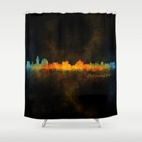 islam Shower Curtains featuring Jerusalem City Skyline Hq v4 by HQPhoto