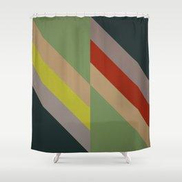 Modernist Geometric Graphic Art Shower Curtain