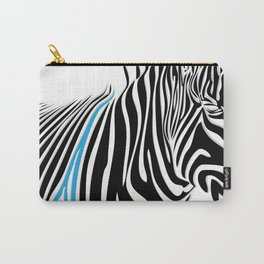 Painted Zebra  Carry-All Pouch