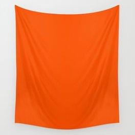Dark Orange Wall Tapestry